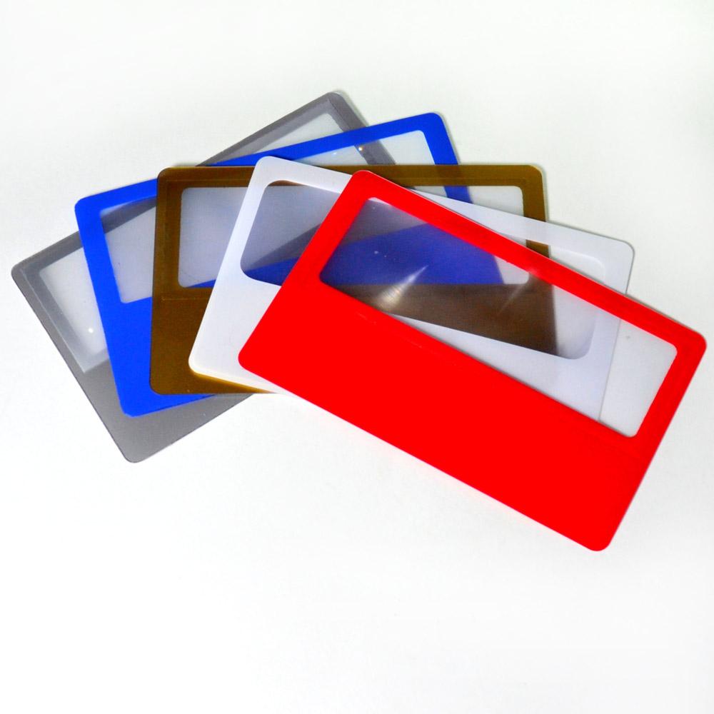 Lupa cartão de bolso, visita, ideal para apoio de leitura - 3644